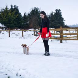 freetoedit happyyoongiday red dog sticker srcwomensday