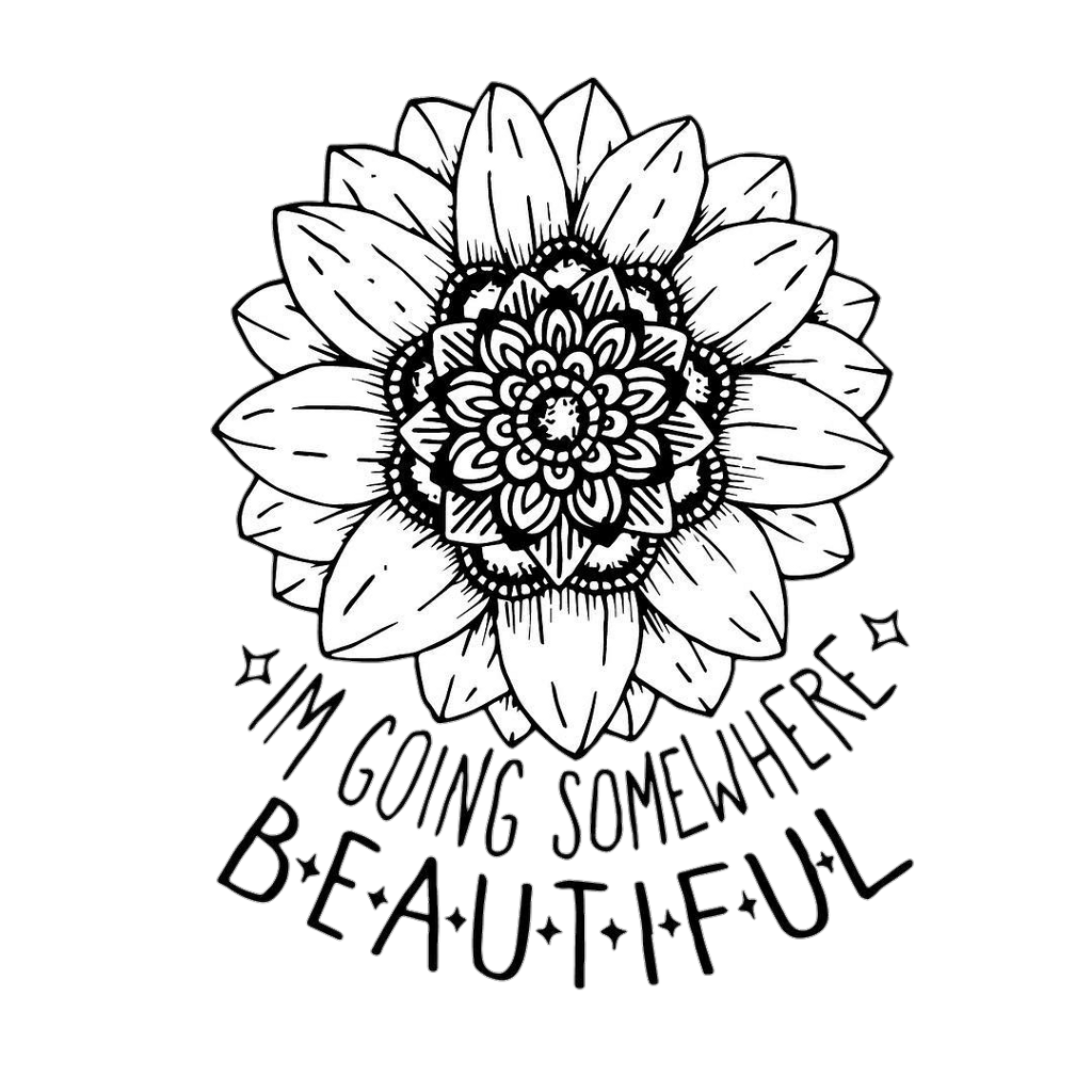 Tumblr Blackandwhite Flower Flowers Inscription Sticker