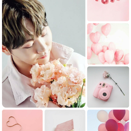 poopymoodboard moodboard pink boo seungkwan