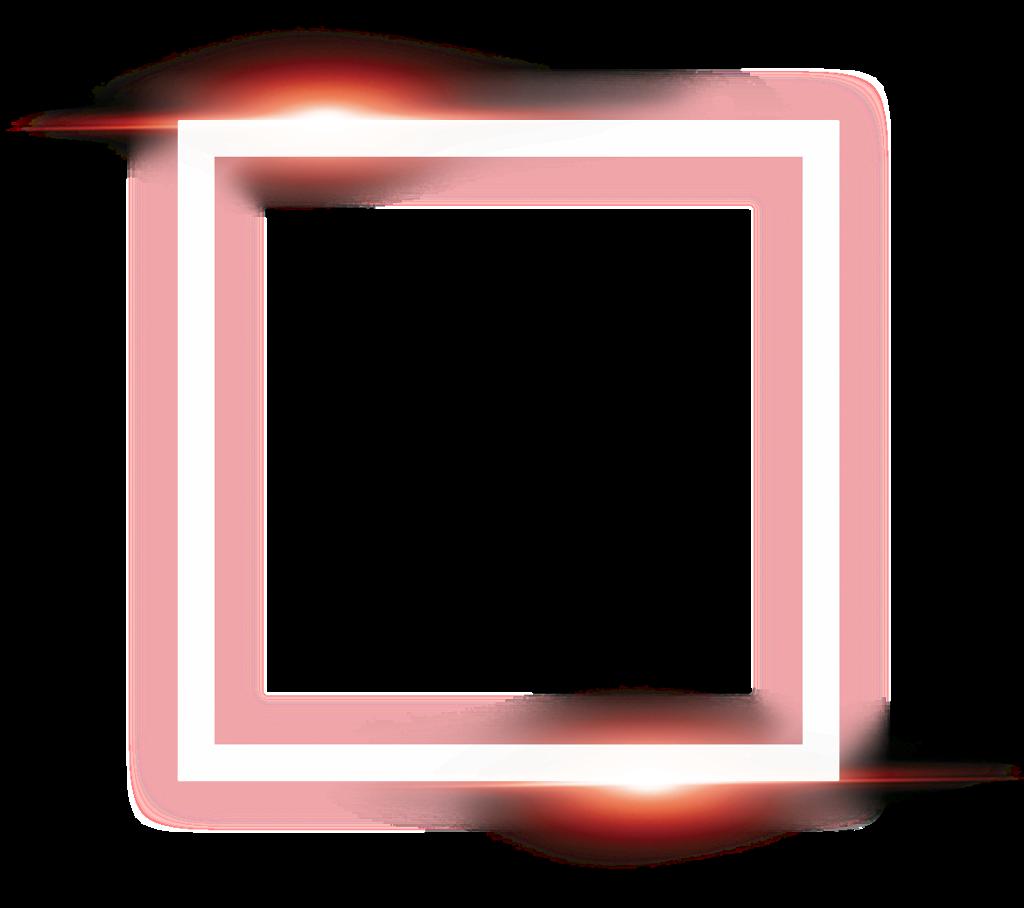 square frame neon light effect 4asno4i...