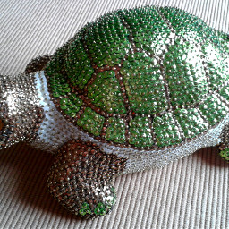 turtle paillettes animals madebymyself art pcimadethis