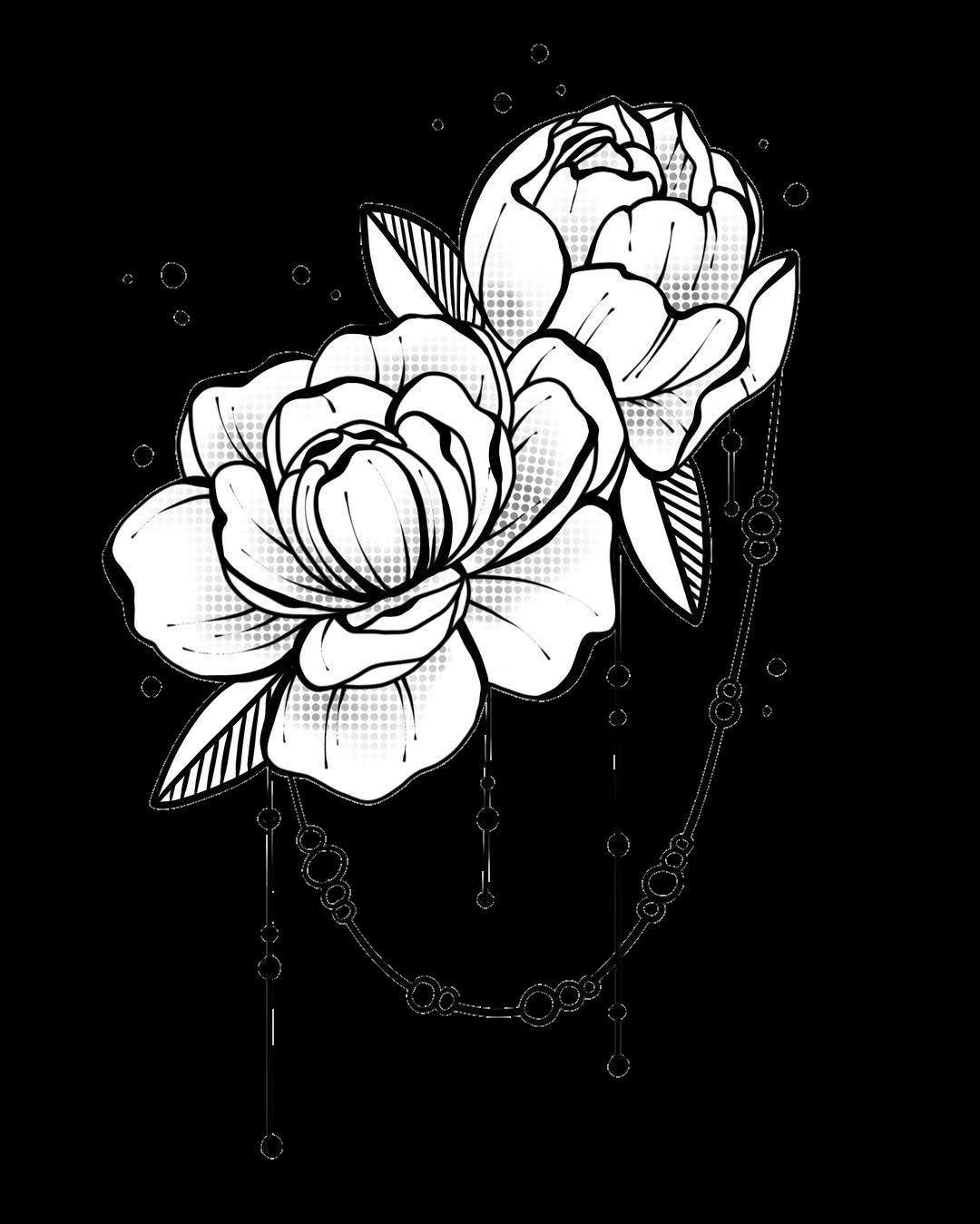 blackandwhite flower flowers rose roses tumblr sticker...