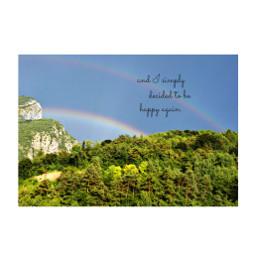 freetoedit rainbow sky happy happiness