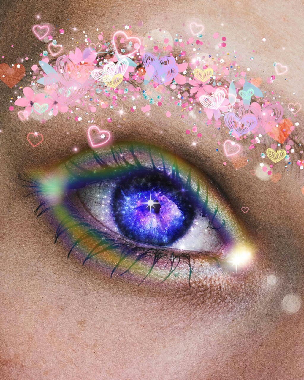 #freetoedit #eye#love#glitter#likes