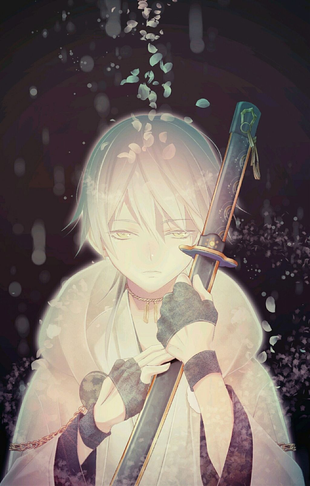 Freetoedit art anime beautiful boy fantasy flower nosmiles