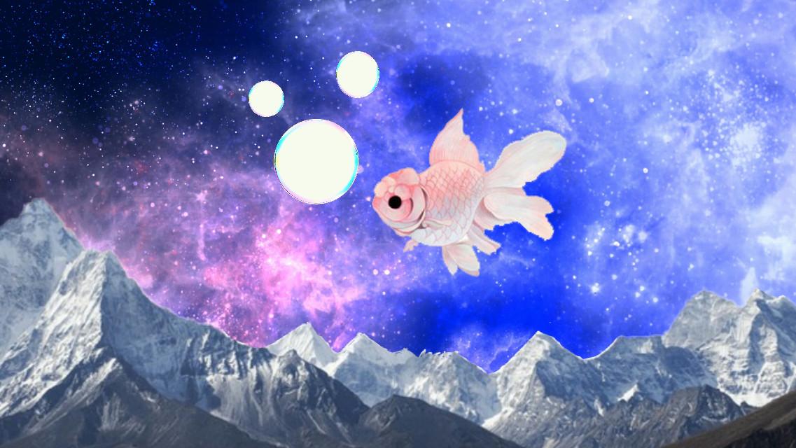 #freetoedit #galaxy #fish #mountains