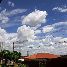 clouds nuvens aldeia cidade sky