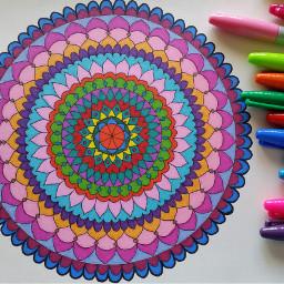 freetoedit mandala art colorful