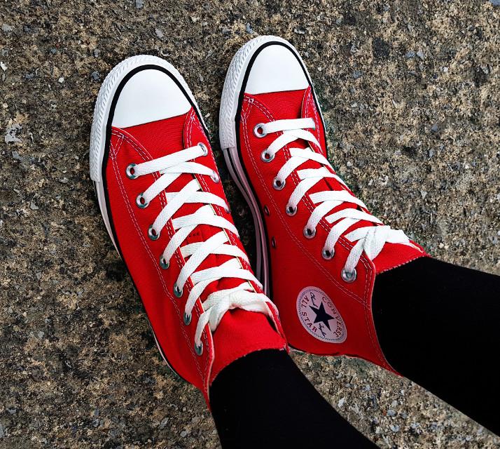 #freetoedit #shoes#converse#red#chucks