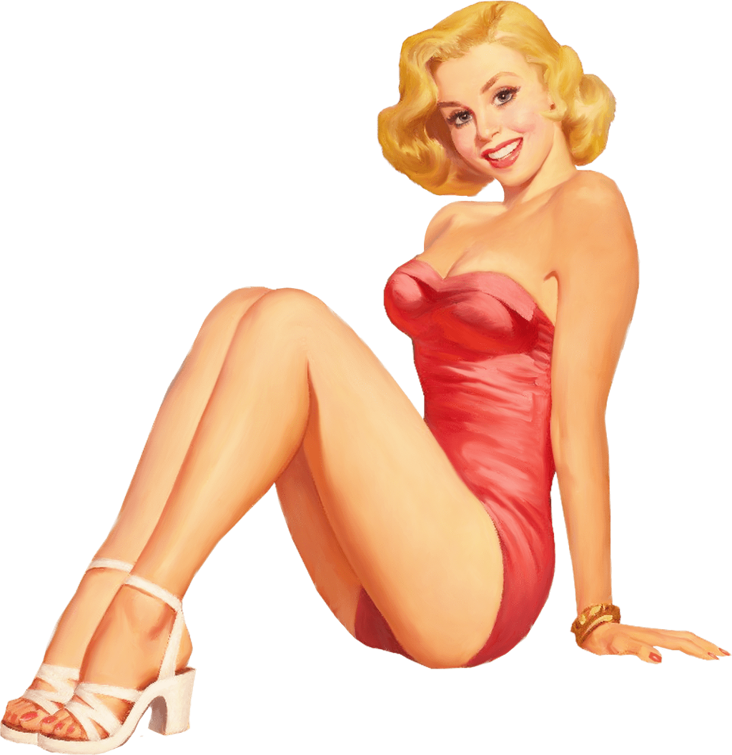 pinup girl vintage sticker by