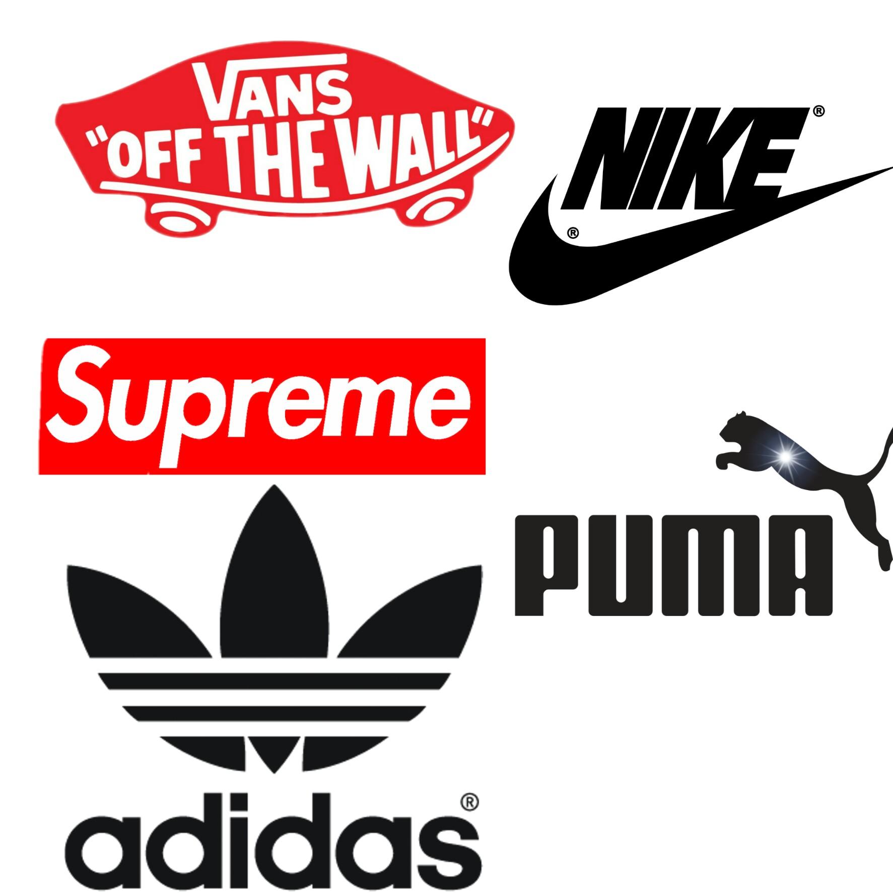 какие-то спортивные бренды логотипы на одной картинке фотосепарации