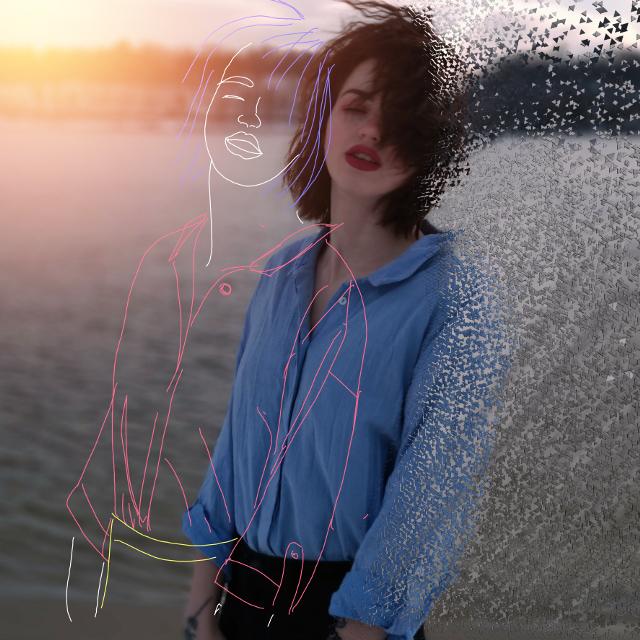 #remix#sketch#beautifulgirl