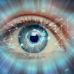 freetoedit eye cyborg oeil robotic