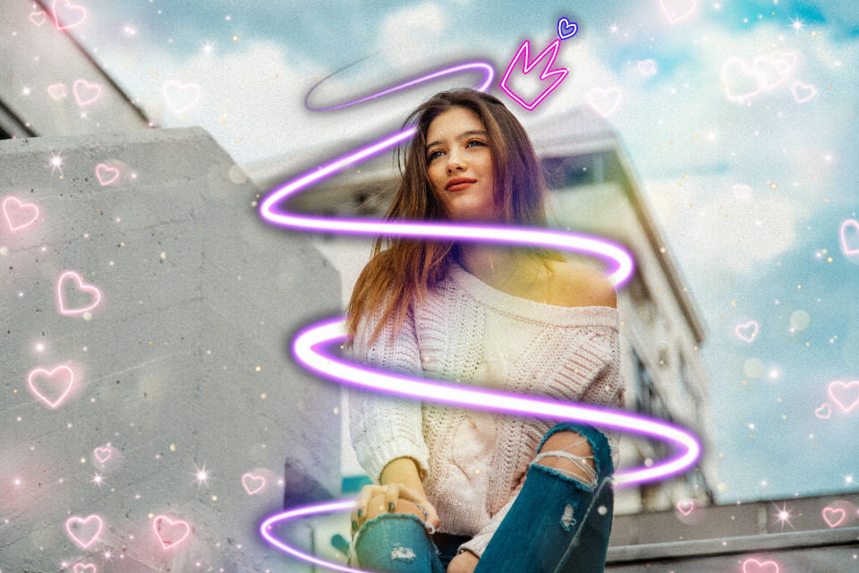 #remix #like #like4like #Girl #beautiful #neon #sticker #cool #new