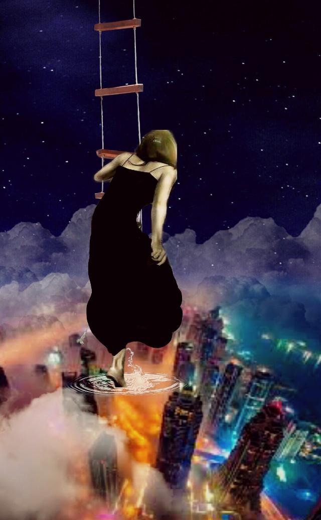 #freetoedit  #surreal #sky #city #myedit