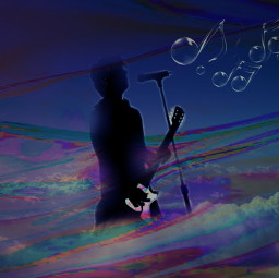freetoedit music shadow sing musicnotes ircclouds
