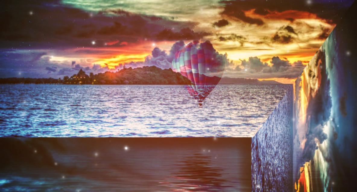 #foldinglandscape #parachute #sea #sunset #landscape #sun #sunshine #clouds #sky #mountains Two Ops from pexels.