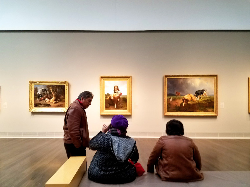 #pcnegativespace #atthemuseum #museum #photograpy #people #paintings #freetoedit