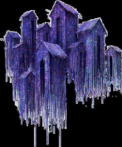 mysterious houses purple dark home freetoedit