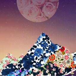 freetoedit floralwrap floral flowers mountains