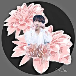 freetoedit kpop kpopedit jungkook flower