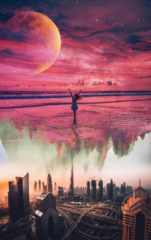 #freetoedit #myedit #remixit #galaxy #edited #universe #planets #sea #colorful #remix