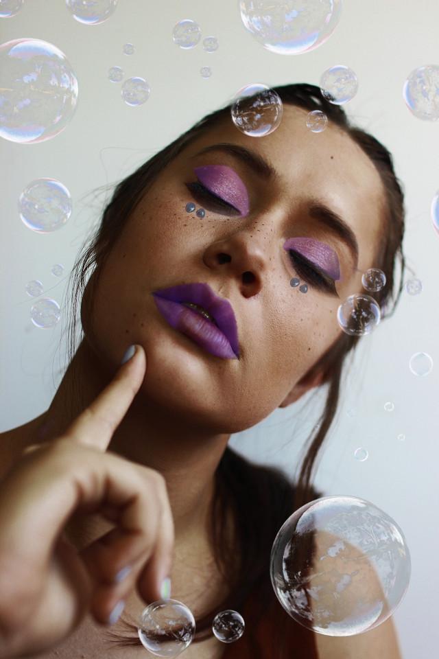 #freetoedit #edit #ircbubbles #bubbles #purple #art #love #model #makeup #inspiration  #picsartedit #creative #sticker  #girl