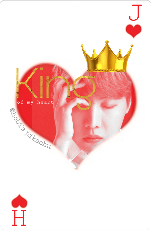 [CLICK FOR FULL VIEW] King hoseok 💖   Tutorial by @picsart 💖 Go check it out on YT 👍 Although I did a lot of improvise.    Gold texture inspiration by @hobis-world  You're such an amazing editor 😍💖  Although I didn't use layer this time just the texture option in text 😉 sweet & simple.    Tags: #playingcard #playingcards #jhope #hoseok #junghoseok #hope #hobi #kingofhearts  #aceofhearts
