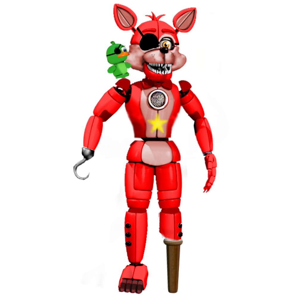 funtime rockstar foxy sticker by fnafy