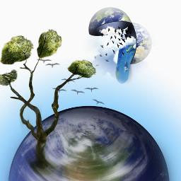 surreal earth artisticedit earthday freetoedit ircearthday
