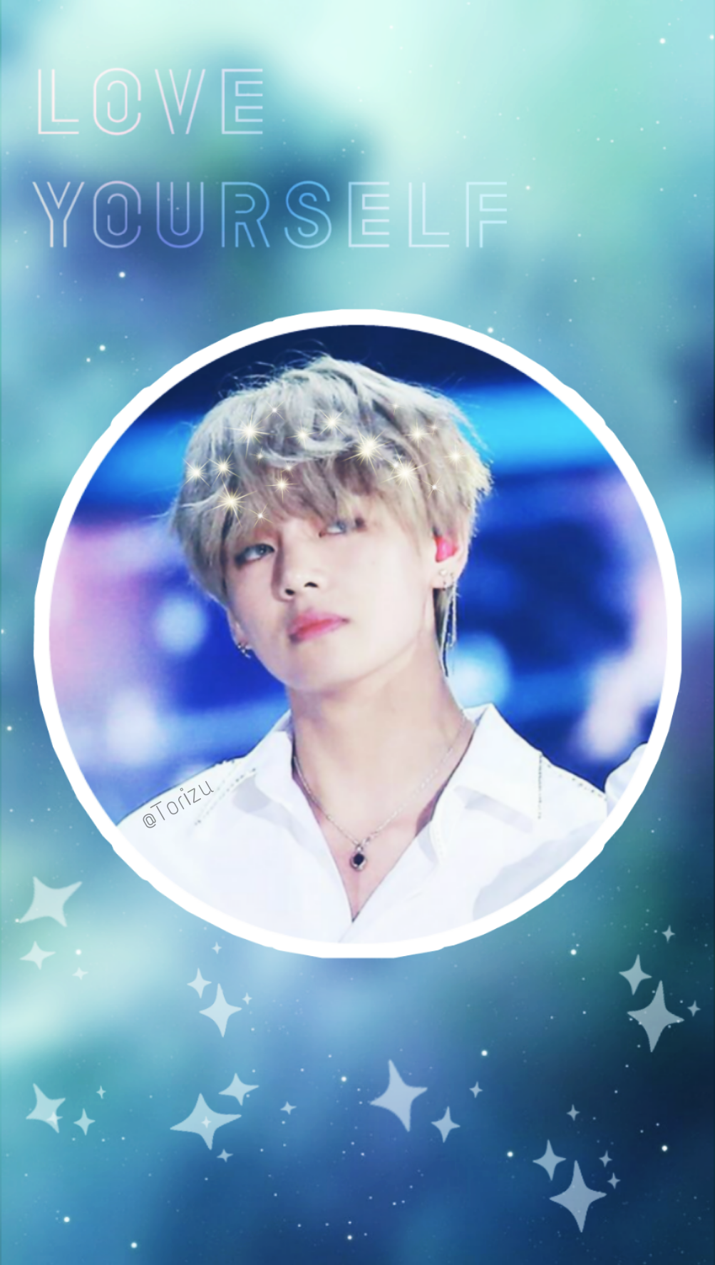 Kim Taehyung Kimtaehyung V Bts Blue Green Wallpaper