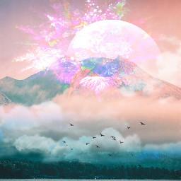 freetoedit mountain magicalmountain pastelcolors myedit