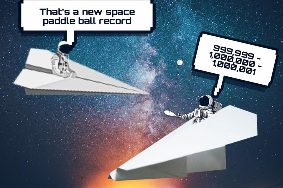 Just a fun edit #paperplane #space #stickers #funedit #freetoedit