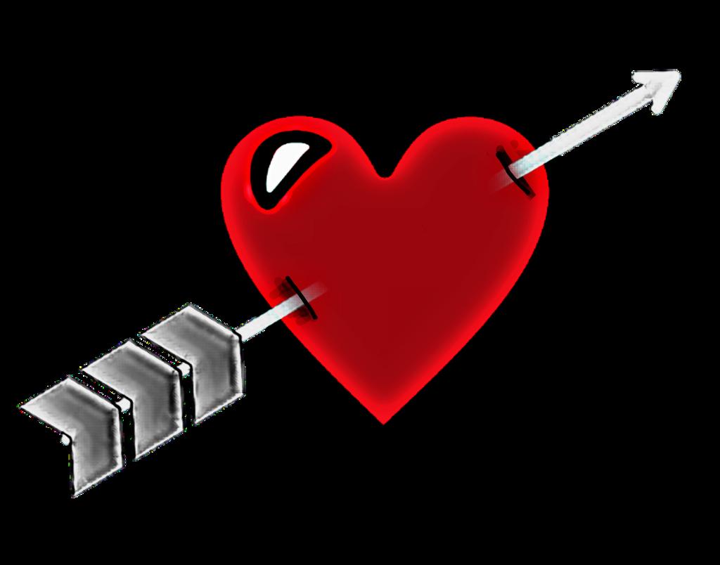 Coeur Heart Love Amour Cupidon Fleche Jtm Jetaime Senti