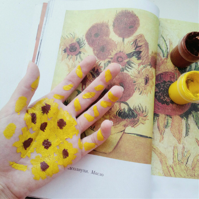 #vangogh #вангог #подсолнухи #sunflowers