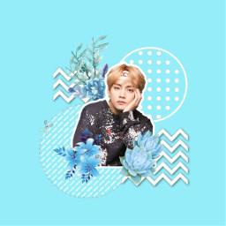 freetoedit kimtaehyung v kpop blue