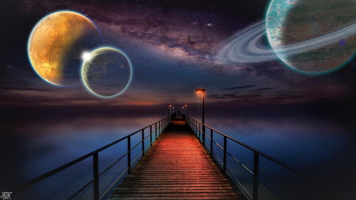 #freetoedit #universo #galaxia #planeta #estrellas #muelle #amor @brian_galaxy
