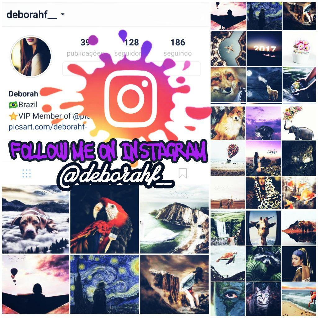 Hello friends! Follow me on Instagram!  Username: deborahf__