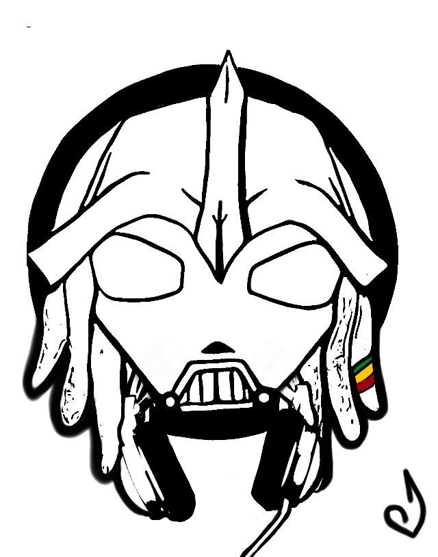 Ce dessin était un essai pour le logo de DadVador .  Dad Vador est un selekta reggae , hiphop  d'annecy sont style est varié , pour vous faire une idée de ses sélections  vous pouvez le retrouver  sur soundcloud NicoSith Selektor Vador . #Caricature #darkvador #drawing #DadVador  #mydrawing #mondessin #starwars #rasta #darkvader  #darkvadorrasta #dj #speaker #musicislife #dubrootsgirlcreation  #celebritycaricature  #dubrootsgirlcreation