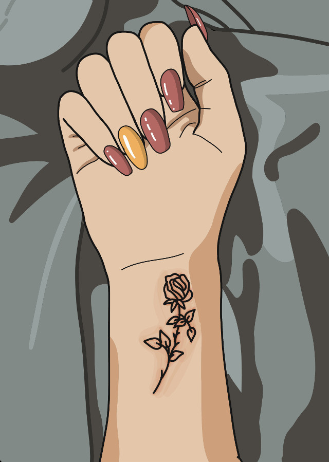 #digitalart #tattoo #Tumblr #enamel #nail #rose #draw #draw #art #arte #new #grunge #style #underground #vector #hand #cute #cool