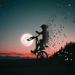 freetoedit bike moon remix remixit ecidontfeelsogoodmeme