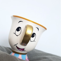 chip mug beautyandthebeast disney cup freetoedit