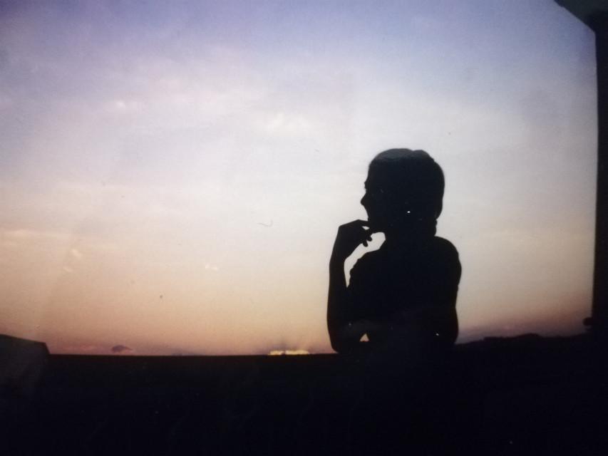 #freetoedit #shape #shadow #sunset #sunrise #girl