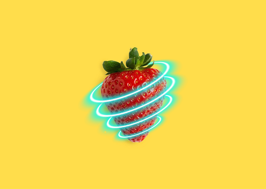 #freetoedit #strawberry #neon #light #circle #ring #freetoedit #freetoeditremix @freetoedit
