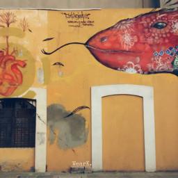 wall art streetart collorfull mural