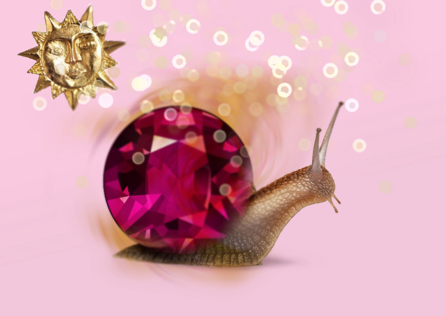 #freetoedit #aesthetic #jewels #sparkle #snail