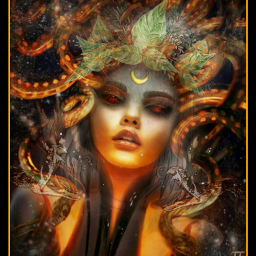 medusa gorgan mortal mythology snakes stone slither powerful eyes magical drawingremix vines cresent fx magicfx pa madewithpa picsart freetoedit ircdrawing