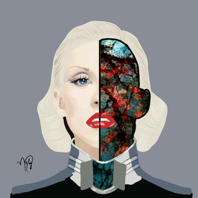 #freetoedit #cristinaaguilera #xtina #bionic #album #doubleexposure #mydrawing