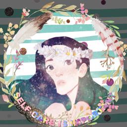 freetoedit flower spring care girl