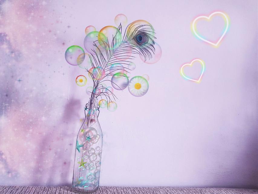 #freetoedit #flowers #bubbles #bubble #galaxy #heart #colors #colorful
